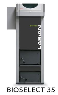 LASIAN BIOSELECT 30 caldera de pie de policombustibles sólidos(pellets, cascara de almendra, orujillo, hueso de oliva,etc,...) de 30 KW.solo calefacción.