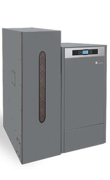 DOMUSA BIOCLASS NG 25 caldera de pellets de 25,3 Kw solo calefacción, con camara de combustión de acero inox., intercambiador tubular, rendimiento de hasta un 95%